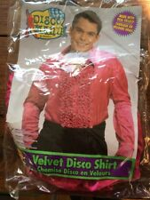 Adult Costume Shirt Halloween Dance Theater Rubies Disco S Small Pink Velvet
