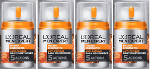 Loreal Men Expert Hydra Energetic Daily Moisturizing Lotion, 1.6 Oz (4 Pack)
