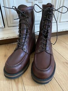C.C. Filson Uplander Chukka Hiking Boots Outdoor Brown Leather Shoes Vibram 10 D