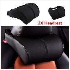 2× Seat Headrest Ergonomic Creative Memory Cotton PU Leather Neck Cushion Pillow