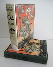 TIK-TOK OF OZ by L Frank Baum, 1930 in DJ with 12 Color Plates