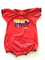 Disney Parks Baby Girl's Pink Short Sleeve Minnie Mouse One Piece Size 18 Months