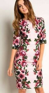 PHASE EIGHT PINK FLORAL DRESS SIZE UK 14