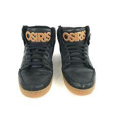 Osiris Convoy Mid Skateboarding Shoes Soft Furry Black and Tan Mens US Size 13