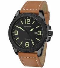 Sekonda 1061 Gents Black Case Brown Leather Strap 50m W/R Watch RRP £69.99