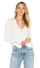 FREE PEOPLE Jump To The Beat White blouse, Size S (AUS 6-8) NWOT (RRP $180)