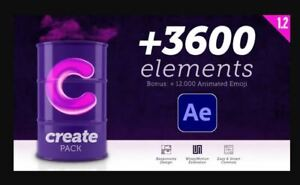 After Effects Create Pack | +3600 Elements | +12000 Animated Emoji