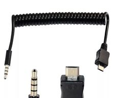 1M USB 2.0 a spirale a spirale Micro 5 pin maschio a 4 Pin Cavo Di Prolunga 3.5mm MASCHIO
