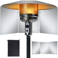 Patio Heater Reflector Shield Heat Focus Foldable Natural Gas Propane Outdoor
