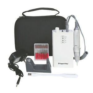 Manicure Pedicure Electric Nail Drill -Rechargeable, 12 Attachments, Light, Case