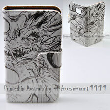 For Huawei Mate 9 8 G8 P9 P8 Lite - Dragon Stencil Flip Wallet Phone Case Cover