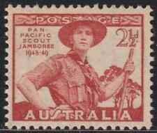 (OL32)AUSTRALIA 1949 SCOUT JAMBOREE SET OF 1V MNH