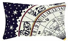 """Astrology Mandala Pillow Cover Indian Pillow Sham Ethnic Cushion Cover Throw 28"""""""