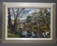 Ruth Dolmetsch (1918-2000 Stuttgart) - Alte Brücke bei Esslingen Neckar (D105)