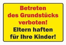 PVC-Schild: Betreten des Grundstücks verboten!