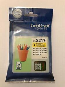 Genuine Original Brother LC3217Y Yellow Printer Ink Cartridge, Pencil Pot