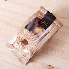 100 Kraft Bag Paper Gift Merchandise Gift Food Small Coffee Brown Bags Window