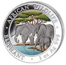 Somalia Elefant 2013 - 1 Unze Silber color, Farbe st rar