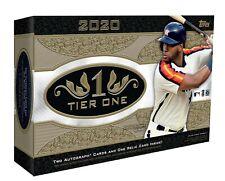 2020 Topps Tier One Baseball 12 Box Case Break - You Pick Team