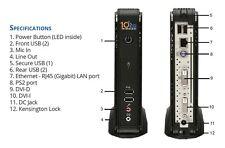 10ZIG 5818 thin client atom D2550 dual core, 2GB ram, 16GB ssd, windows 8 + psu