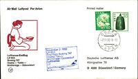LUFTHANSA Erstflug Osaka Tokio Anchorage Düsseldorf 1982 Briefmarken aus Japan