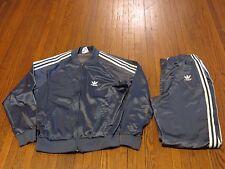 Men's VTG 80's 90's Adidas ATP KeyRolan Dark Grey White Tracksuit sz L