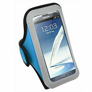 Blue Sport Armband Case Pouch For LG V20 / V30 / V40 ThinQ / V50 ThinQ