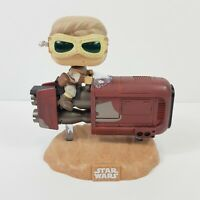 FUNKO Pop Vinyl Star Wars REY WITH SPEEDER #174 Bobble-head / Galactic Con Excl