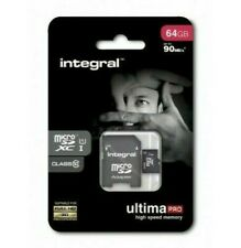 Micro SD Memory Card Full HD Integral 64GB Ultima pro Class 10 - 90MB/S+Adapter
