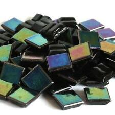 203 Vitreous Irridescent Mosaic Tiles 10mm - Jet Black