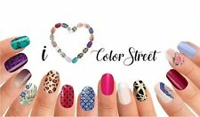 NEW COLOR STREET 100% NAIL POLISH STRIPS PATRIOTIC/RETIRED FREE SHIPPING