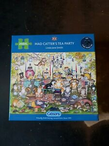 Mad Catter's Tea Party 250xl Jigsaw Puzzle Gibsons - Linda Jane Smith - New