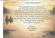 "Personalized Poem ""To My Wonderful Dad"" Birthday Father's Day Gift"