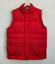 Bonfire Snowboarding Co Puffer Down Vest Red Zip Front Snaps Pockets Size M