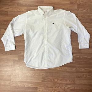 Brooks Brothers Men's Dress Shirt Size XXL Madison Button-Front White Non-Iron