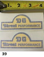 DG Street Performance decal sticker Yamaha RD400 old school road racing 2 stroke