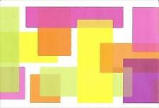 Bright Blocks of Color on White Wallpaper Border NGB76810