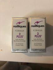 Lot Of 2 Nailtiques 2 Plus Formula 7ml (.25fl.oz.)