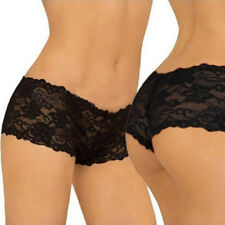 ab1ee4ad2404 Women Ladies Lace Boy Shorts Boxer Knickers Underwear Short Pants Xs-xxl  Red L
