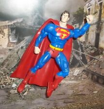 DC UNIVERSE SUPER HEROES CLASSIC BLUE SUPERMAN FIGURE MATTEL S3 SELECT SCULPT