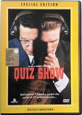 Dvd Quiz Show - Special Edition con ologramma tondo di Robert Redford 1994 Usato