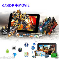 "WIFI Bluetooth 7"" A33 Android 4.4 Quad-Core 8GB Sim Tablet PC Dual Camera Black"