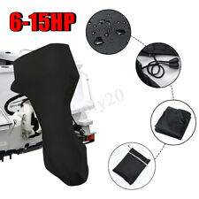 6-15HP 420D Full Outboard Boat Motor Engine Cover Black Dust Rain Protection AU