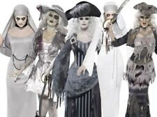 Adult Ghost Costume Ladies Ghost Pirate Nun Fancy Dress Halloween Outfit