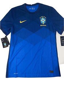 Nike VAPORKNIT CBF Brazil Away Soccer Jersey CD0597-427 Men's Size M NWT