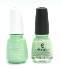 China Gelaze Nail Gel Polish + Matching Lacquer Re-Fresh Mint #81626