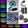 Kit 5m 10m 20m RGB LED Strip waterproof 5050 RGB SMD Tape light remote power set