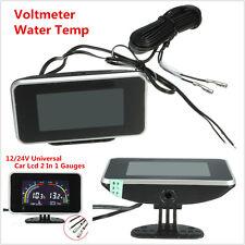 DC 9-36V Car LCD Digital Display Voltmeter Gauge / Water Temp Temperature Meter