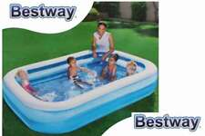 Rechteckiger Familienpool 2 Ringe Family Pool blau 262x175 x51cm BESTWAY #54006