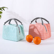 Picnic Cool Bag Cold Insulated Lunch Bag Women Kids Canvas Girls Lunch Bags Xmas